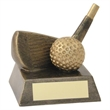 JR2-RF92 Bronze/Gold Resin Golf 'Wedge' Trophy