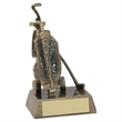 JR2-RF94 Bronze/Gold Resin Golf 'Bag' Trophy