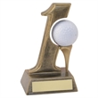 JR2-RF97 Bronze/Gold Resin 'Hole in One' Golf Trophy