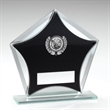 JR2-TD619 Black/Silver Glass Star With Silver Golf insert Trophy