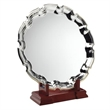 JR41-TY69 Silver Plated 'Chippendale' Salver On Wooden Stand