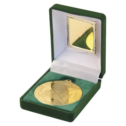 JR37-TY63A Green Velvet Box+Gold Hurling Medal Trophy