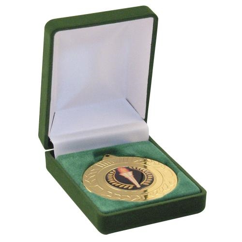 MB3007GN Deluxe Green Medal Box (40/50mm Recess)