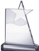 Superb Optical Crystal Waving Star Award