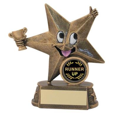 JR9-RF602A Bronze/Gold Resin Generic 'Comic Star' Figure Trophy