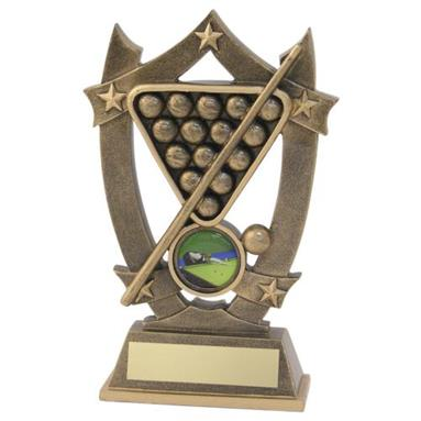 JR5-RF496 Bronze/Gold Resin Pool/Snooker 5 Star Trophy