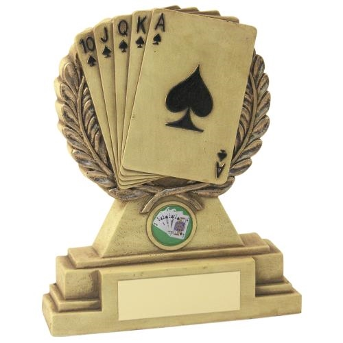 JR40-LW23 Cream/Bronze Laurel Wreath 'Cards' Trophy