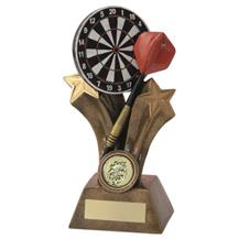 JR3-RF523 Bronze/Gold/Multi Resin Dartboard+Dart Trophy