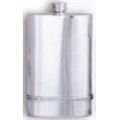 Irish Pewter Hip Flask with Celtic Band