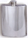 Plain Pewter Flask