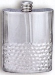 Half-Hammered Pewter Flask