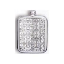 'Indian' Pewter Flask