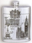'Pride of London' Pewter Hip Flask