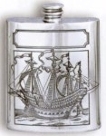 Galleon Pewter Flask