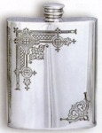 Gothic Pewter Flask
