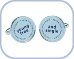 'Young Free/And Single' Cufflinks