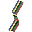 MR2128 Medal Ribbon Olympic Colours 395x22mm