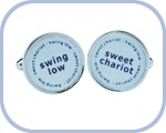 'Swing Low/Sweet Chariot' Cufflinks