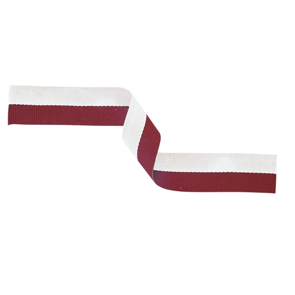 MR29 Medal Ribbon Maroon & White 395x22mm