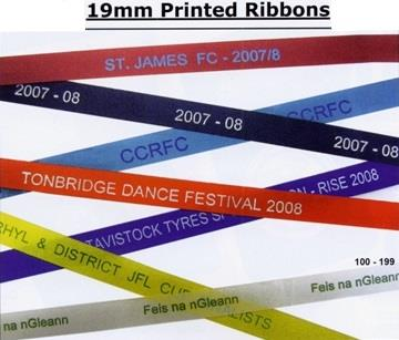 19mm PRINTED SATIN RIBBONS