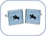 'Equine 'Trot-Gallop-Canter-Hack' Cufflinks
