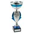 JR22-CT46 Silver/Blue Bowl Trophy (1In Centre)