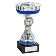 JR22-CT49 Silver/Blue/Gold Bowl Trophy (1In Centre)