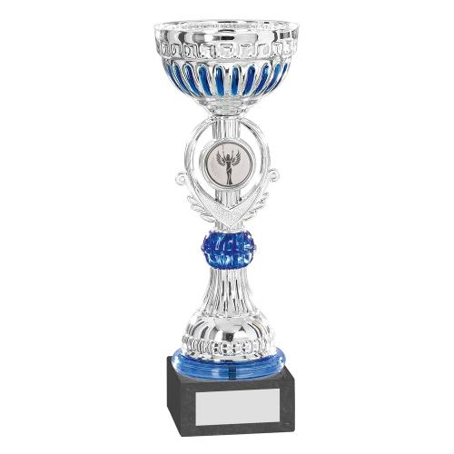 Silver/Blue Bowl Trophy JR22-CT47