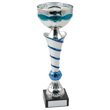 JR22-CT48 Silver/Blue Bowl Trophy