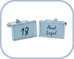 '18/And Legal' Cufflinks