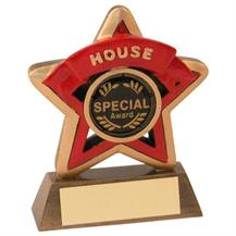 JR44-RF400R Bronze/Gold/Red House Mini Star Trophy (1In Centre)