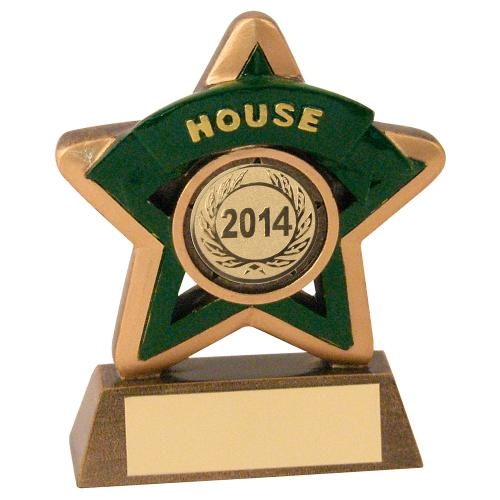 JR44-RF400N Bronze/Gold/Green House Mini Star Trophy