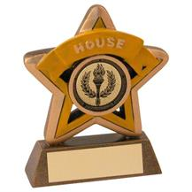 Bronze/Gold/Yellow House Mini Star Trophy JR44-RF400Y