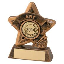 JR44-RF405 Bronze/Gold Art Mini Star Trophy