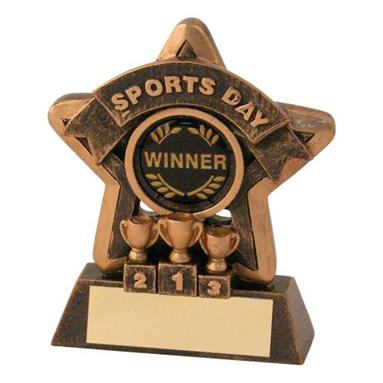 Bronze/Gold Sports Day Mini Star Trophy JR44-RF404