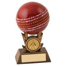 JR6-RF432 Bronze/Gold/Red Cricket On Strikes Trophy