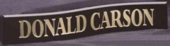 Crescent Double Curvature Nameplate - Black