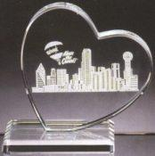 Heart Paperweight - Clear Glass