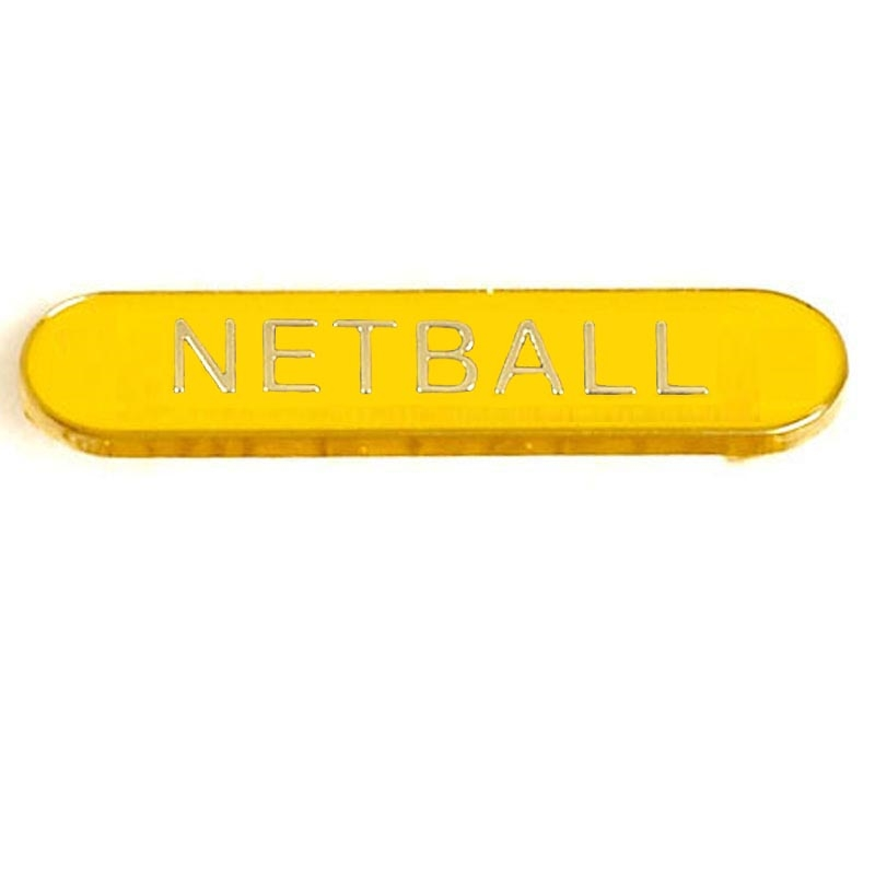 SB054Y BarBadge Netball Yellow (N)