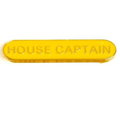 SB034Y BarBadge House Captain Yellow
