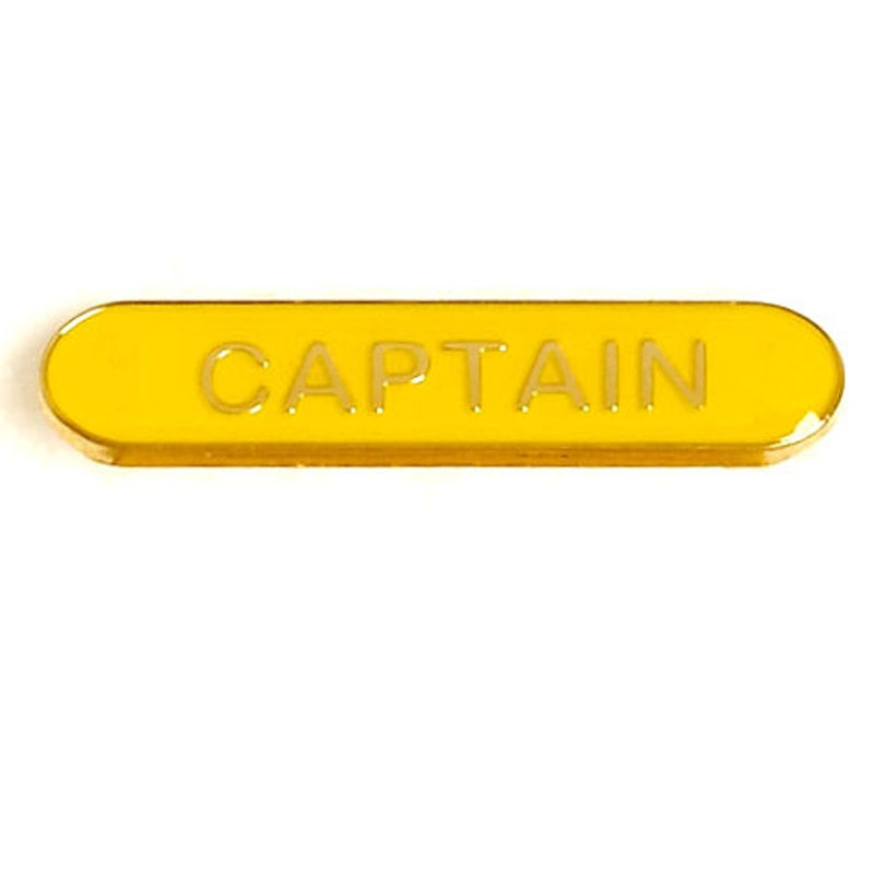 SB032Y BarBadge Captain Yellow