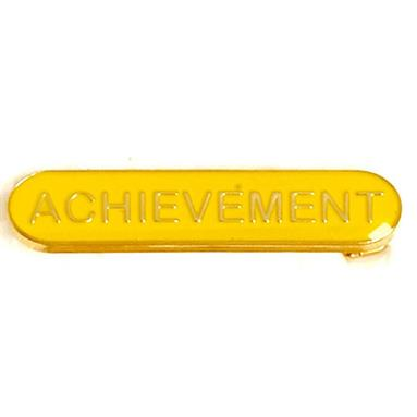 SB026Y BarBadge Achievement Yellow