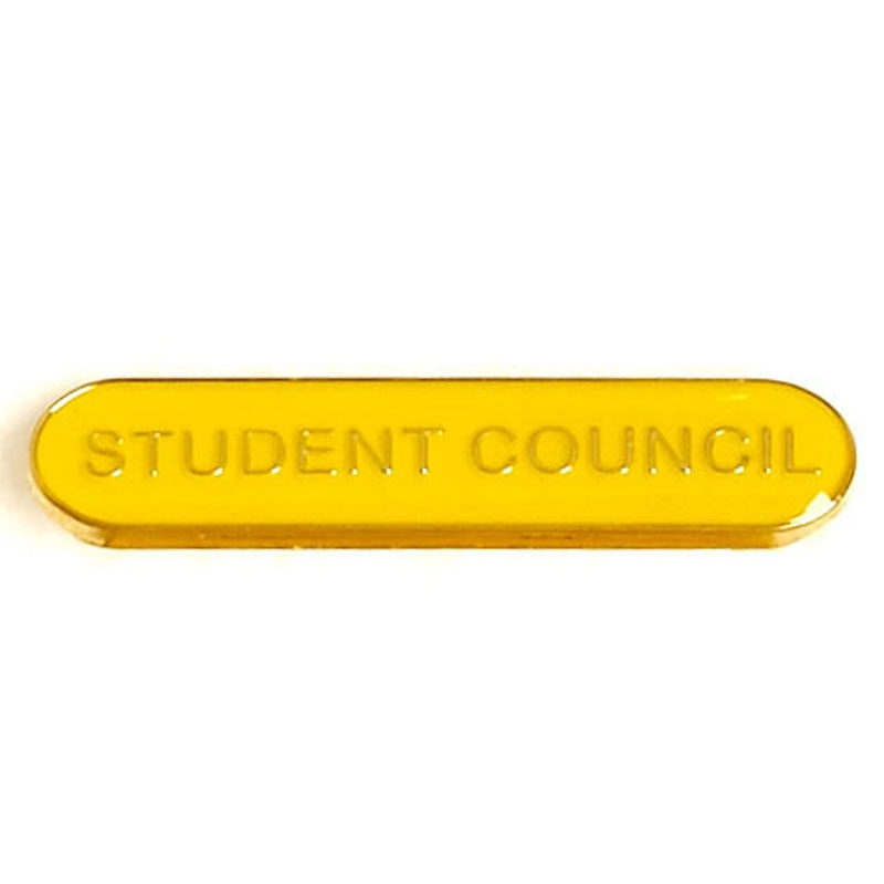 SB022Y BarBadge Student Council Yellow