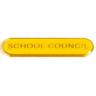 SB012Y BarBadge School Council Yellow
