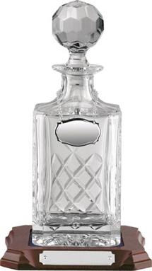 Square Handcut Crystal Decanter