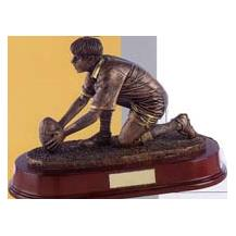 Bronze Rugby Figure