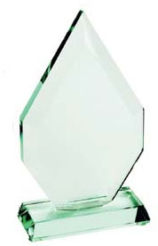 Superb Heavyweight Jade Crystal Award