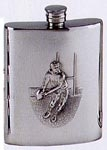 Decorative Flask with Rugby Action Figure