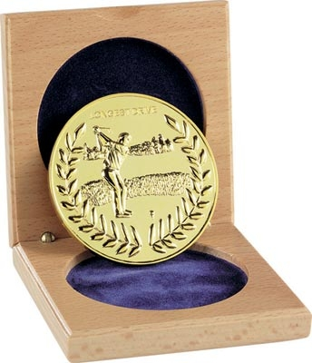 60mm Longest Drive Cased Medal