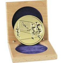 60mm Gilt Finish Soccer Medal